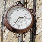 """Double Sided Station Clock, Bakewell (20657-RDA)"" by rodjohnson"