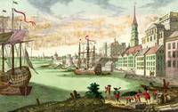 18TH C. BOSTON HARBOR