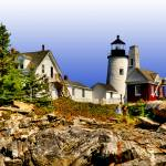 """""""Pemaquid Point Lighthouse Descent"""" by New-Yorkled"""
