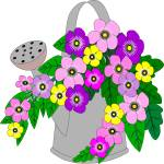 """""""Water can with flowers"""" by debband"""