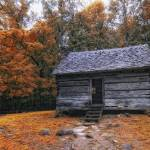 """""""Cabin in the Fall"""" by ginacormier"""