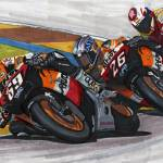 """Nicky Hayden 2006 MotoGP World Champion"" by DavidJacksonArt"