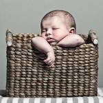"""""""Cute Baby in Basket"""" by jmpaget"""