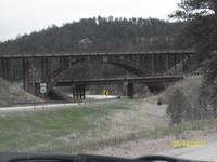 Natural Wooden Bridge in South Dakota