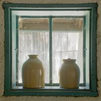 Jugs in window