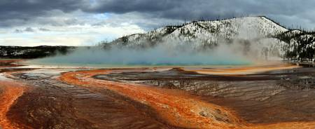 Stormy Skies Over Grand Prismatic Spring