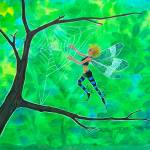 """Fairy Web Harp"" by AprilBullard"