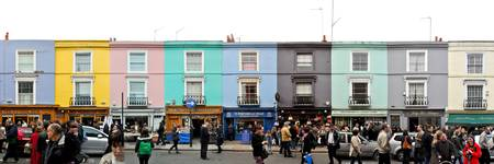 London - Portobello Road Market Panorama