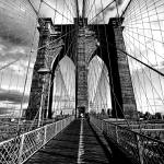 """Upon the Brooklyn Bridge Tower"" by New-Yorkled"