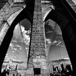 """Brooklyn Bridge Tower & Arches"" by New-Yorkled"