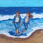 """Sisters"" by paintingsbygretzky"