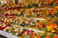 France, Flowers, Market in Bayeux
