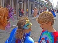Tears and Comfort on Mardi Gras, New Orleans