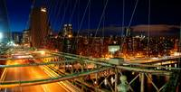 Brooklyn Bridge Night Panorama NYC