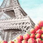 """Spring at the Eiffel Tower"" by smellyrhinostudio"