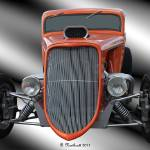 """1933 Ford Roadster - Hotrod Version Of Scream"" by bettynorthcutt"