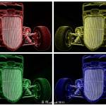 """1933 Ford Roadster Collage"" by bettynorthcutt"