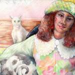 """""""girl with cat"""" by patriciamalone"""
