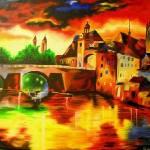 """Sunset in Venice"" by sharmistha_datta"