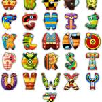 """Super Alphabet Poster (No background)"" by MikeCressy"
