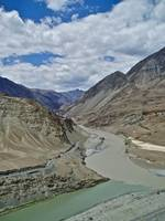 Where the Zanskar and the Indus River Join