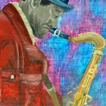 """Black Hat Sax man"" by riverratlee"