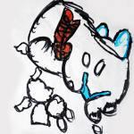 """""""Abstract Kitty Cat Kitten Doodle Art"""" by 4FootNinja"""