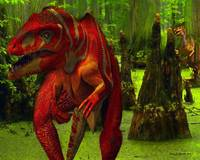Allosaurus Hunted by a Raptor