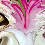 """""""Pink, Brown & White Abstract Fountain"""" by tararichter"""