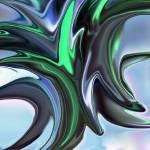 """Blue & Green Alien Flower"" by tararichter"