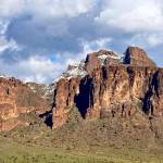 """""""Snow on the Superstition Mountains"""" by FlattenPhotography"""