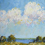 """Palette Knife Lake by Joyce Hicks"" by jhicksfineart"