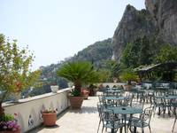 Cafe on Amalfi Cliff Side