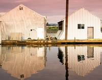 Boat Houses at Sunset
