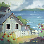 """Nantucket Retreat by Joyce Hicks"" by jhicksfineart"