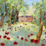 """Hidden Cottage Poppies by Joyce Hicks"" by jhicksfineart"
