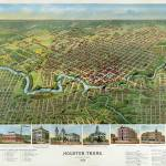 """1891 ANTIQUE HOUSTON MAP"" by homegear"