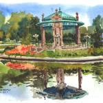 """Forest Park Pagoda"" by michaelandersonartprints"
