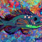 """Blue Fish"" by paintingsbygretzky"