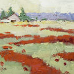 """Poppy Field by Joyce Hicks"" by jhicksfineart"
