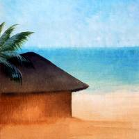 beach hut Art Prints & Posters by Linda Messier