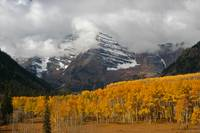Maroon Bells Storm Clouds