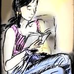 """Chinese Girl Reading"" by laurie"