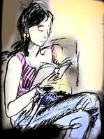Chinese Girl Reading