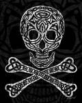 Celtic Skull and Crossbones by Kristen Fox