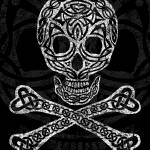 """Celtic Skull and Crossbones"" by foxvox"