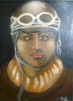 Portrait of a Black female pilot
