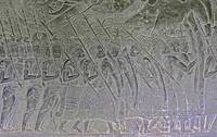 Angkor Wat Bas Relief Thai Mercenaries Marching