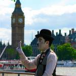 """Charlie Chaplin Revisiting London"" by Svetlana-Bellon-de-Light"