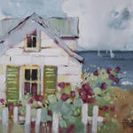 """Green Nantucket Shutters by Joyce Hicks"" by jhicksfineart"